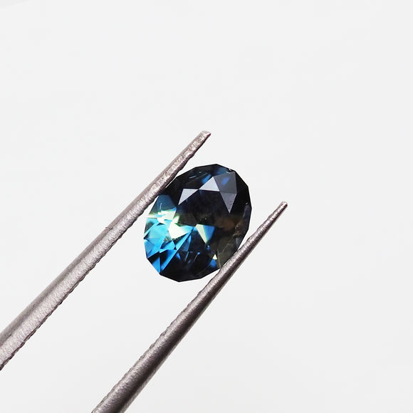 0.91ct Blue/Yellow Madagascan Parti-Sapphire Modified Oval Cut