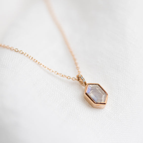 Limited Edition Moonstone Halley Necklace