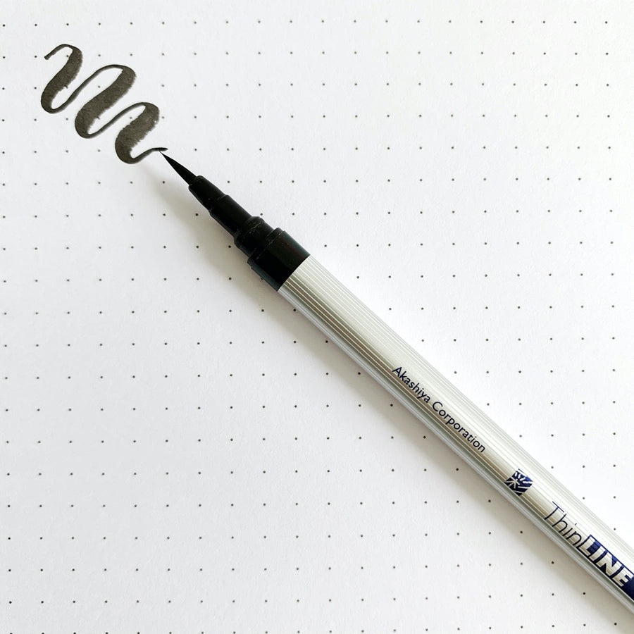 Sai Thin Watercolor Brush Pen - Negro