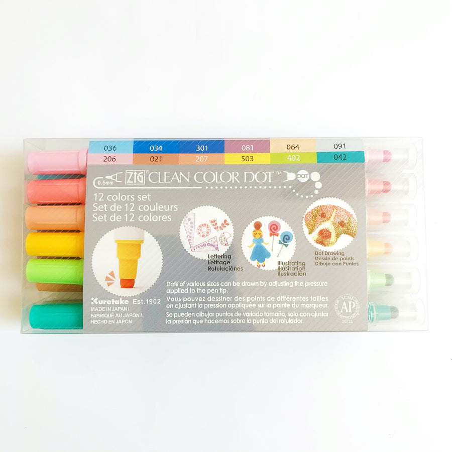Zig Clean Color Dot - Set de 12