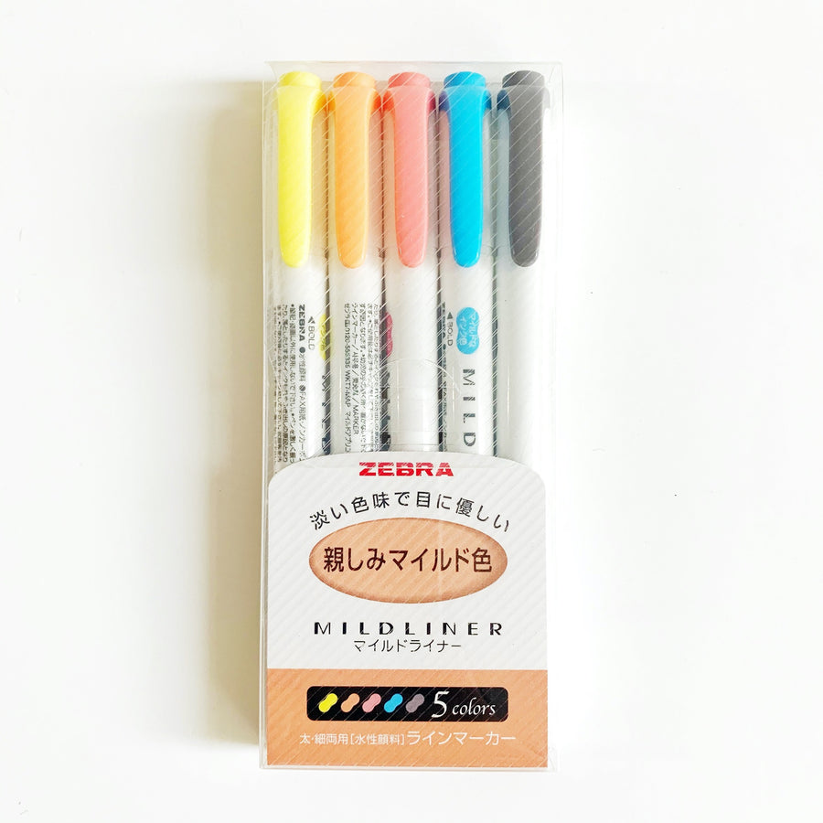 Zebra Mildliner - Set 5 - Friendly