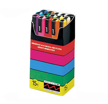 POSCA Basic Set de 15 - Fine PC-3M