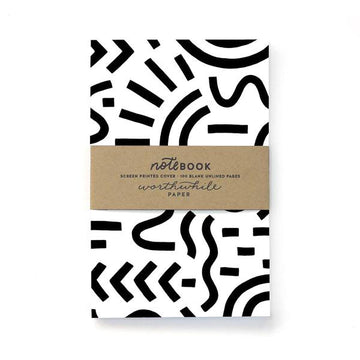 Cuaderno - Curves and Lines Pattern