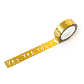 Washi Tape - Yes Gold Foil