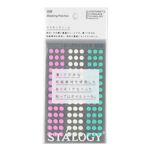 Stálogy washi dots - 5mm Ice Cream