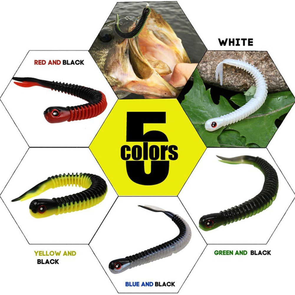 5Pcs Saltwater Freshwater Rubber Fishing Lures Fishing Tackle Artificial Baits