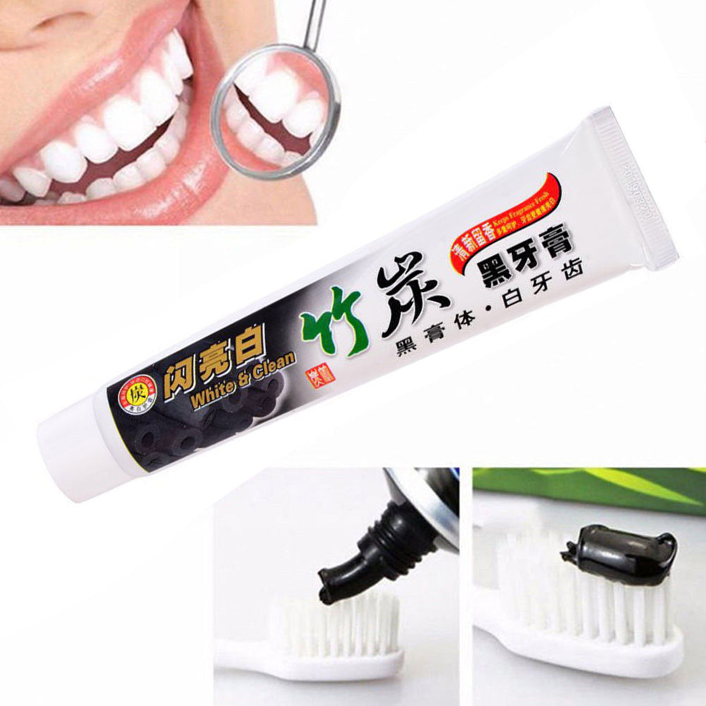Whitening Toothpaste Bamboo Charcoal Teeth Black Removes Stains Bad Breath