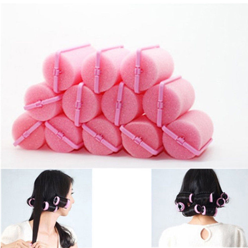 12Pcs/Bag Magic Sponge Foam Cushion Hair Styling Rollers Curlers Twist Tool