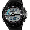 Men Waterproof Sport Digital Analog Dual Time Alarm Date Chronograph Wrist Watch