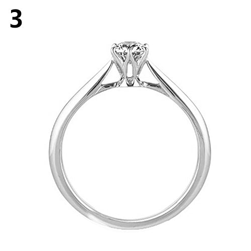 Charming Silver Plated Dazzling Rhinestone Wedding Party Finger Ring Jewelry