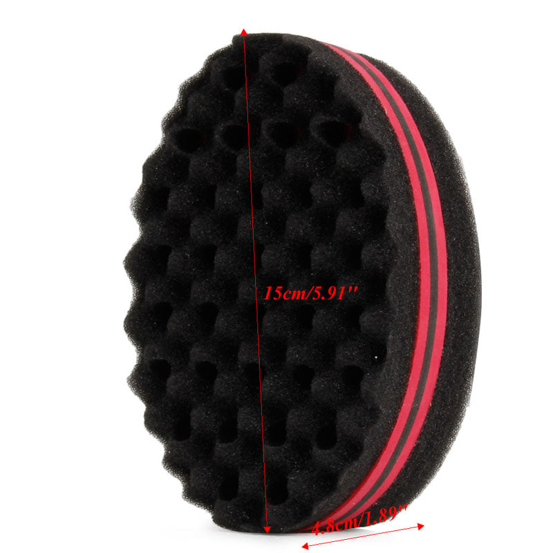 Double Wave Magic Hair Twist Sponge Dreads Twisting Locks Dreadlocks Curl Brush Sponge
