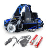 LED Headlamp T6 Rechargeable Headlight Ultra Bright Portable Camping Lantern
