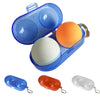 Table Tennis Container Box Portable Plastic Storage Case for 2 Ping-Pong Balls