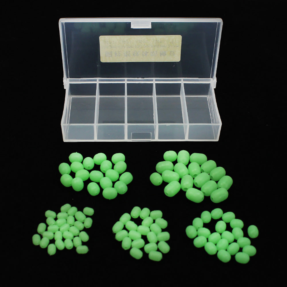100Pcs Luminous Beads Fishing Space Beans Round Float Balls Stopper Accessory