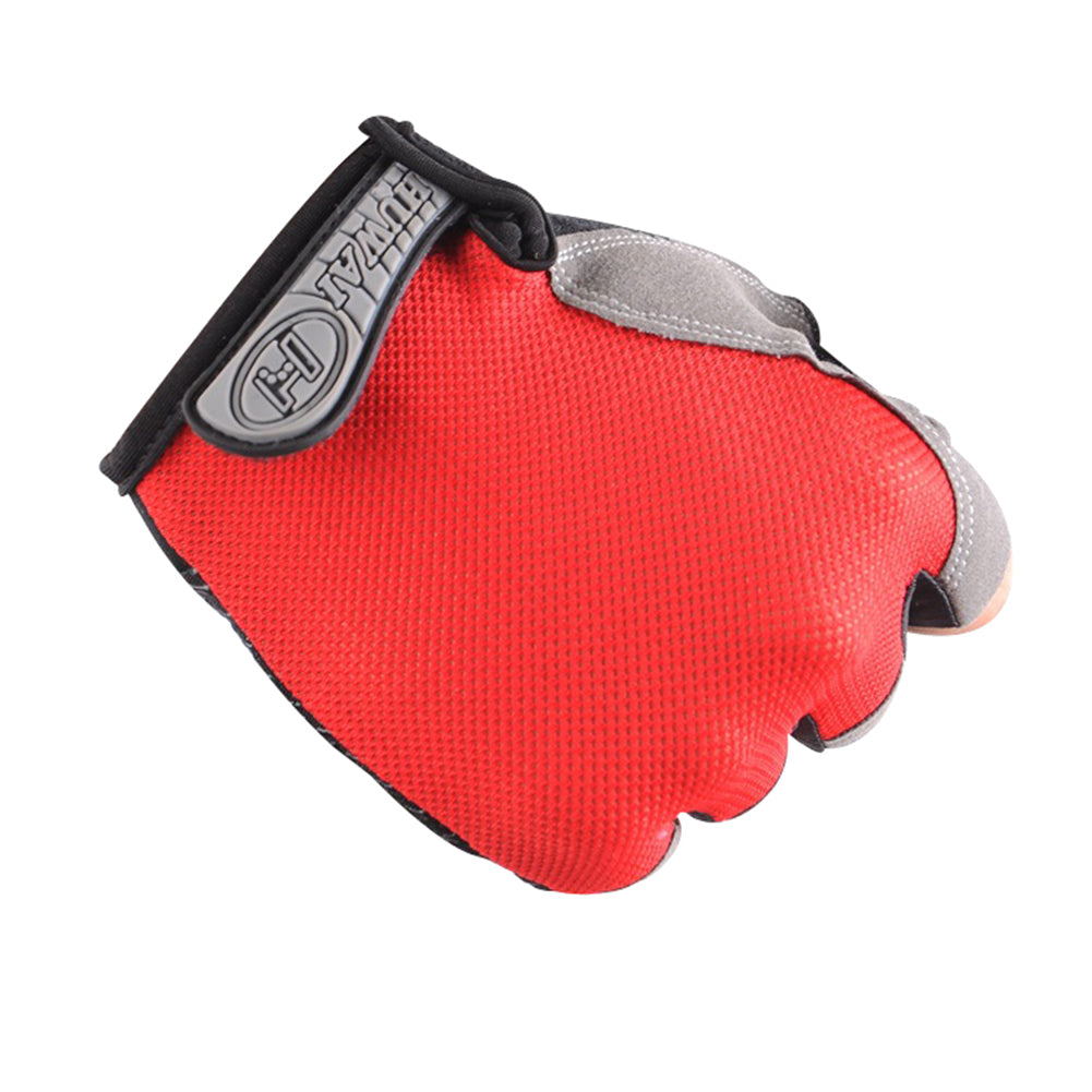 Outdoor Cycling Breathable Mesh Sunscreen Anti-skid Unisex Half Finger Gloves