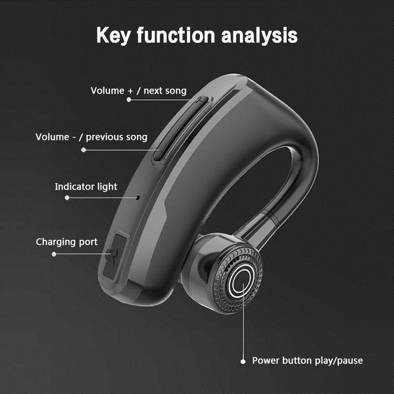 Handsfree Wireless Bluetooth Earphone Noise Control Business Wireless Bluetooth Sport Earphone with Mic