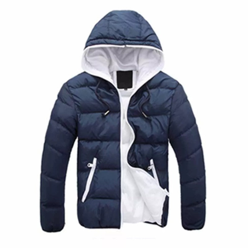 Hooked Down Zipper Coat Jacket Casual Parkas Men