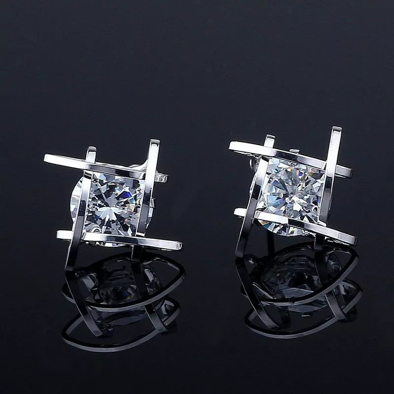 Women's Rhinestone Fine Stud Earrings