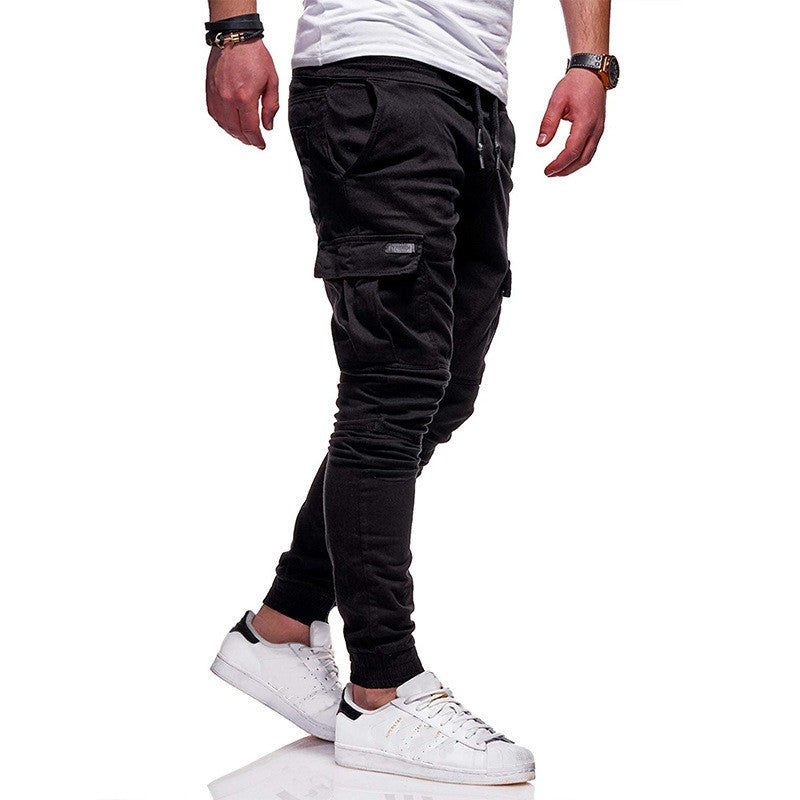Tether Elastic Sports Collapse Long Casual Pants