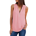 Women Summer V-Neck Sleeveless - SultanBox