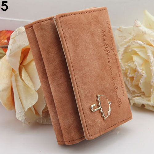 Women Umbrella Faux Leather Coin Purse Clutch Card Holder Short Trifold Wallet