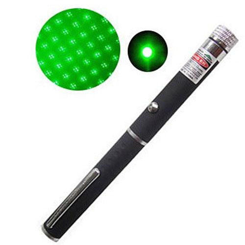 5mw 532nm 2 in 1 Visible Beam Light Star Cap Projector Green Laser Pointer Pen