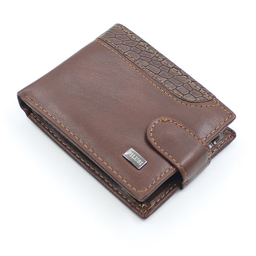 Men Bifold Faux Leather ID Card Holder Money Clutch Billfold Coin Wallet Purse
