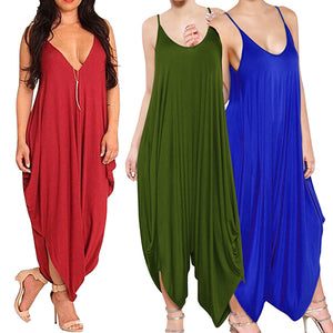 Women Summer Fashion Casual Jumpsuit - SultanBox
