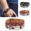 Vintage Men's Women's Faux Leather Multilayer Bracelet Bangle Wristband Jewelry