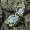 Military Camouflage Folding Sighting Compass Pouch Outdoor Camping Hiking Tool