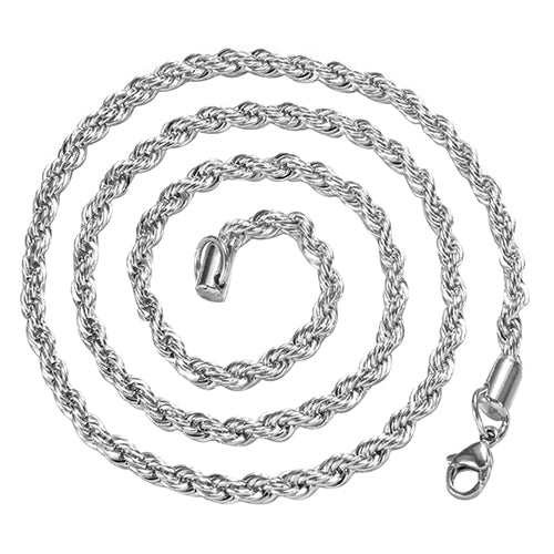 Women's Men's 925 Sterling Silver Twist Chain Necklace Charm Fashion Jewelry