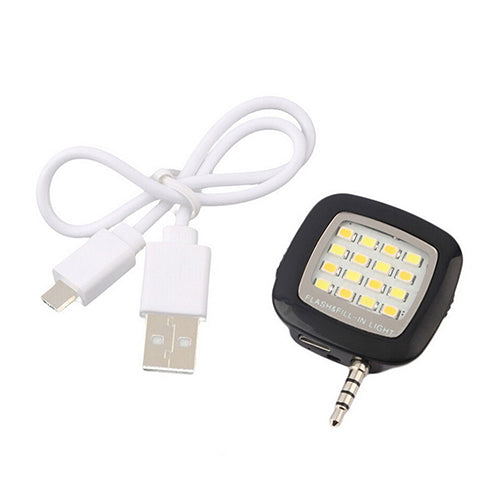 Mini Portable Fill-in Light Selfie 16 LED Camera Flash Lamp for Android iPhone
