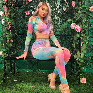 Leggings Colorful Two Piece Set - SultanBox