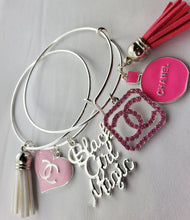 Load image into Gallery viewer, Designer Charm Bracelet - Pink & White