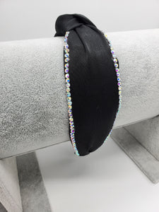 Top Knot Rhinestone Headband