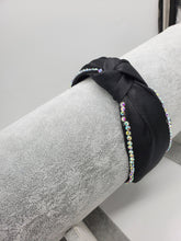 Load image into Gallery viewer, Top Knot Rhinestone Headband
