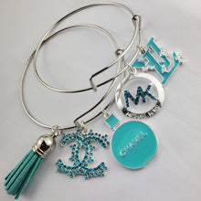 Load image into Gallery viewer, Designer Charm Bracelet - Turquoise