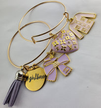 Load image into Gallery viewer, Designer Charm Bracelet - Light purple