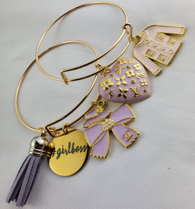 Designer Charm Bracelet - Light purple