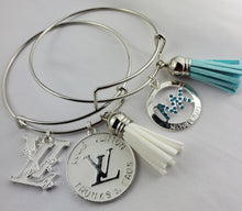 Load image into Gallery viewer, Designer Charm Bracelet - White & Turquoise