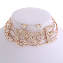 Load image into Gallery viewer, Love Choker Necklace Set