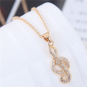 Musical Note Chain Necklace