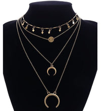 Load image into Gallery viewer, Crescent Layered Fashion Necklace