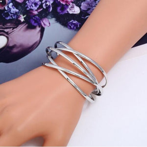 Open Cut Bangle Bracelet