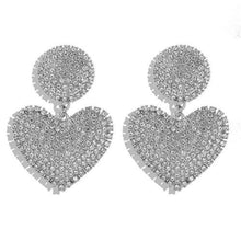 Load image into Gallery viewer, High Fashion Heart Earrings