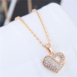 Hollow Heart Chain Necklace