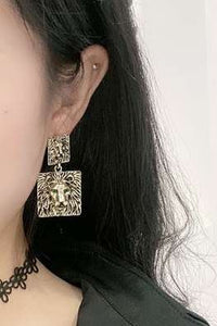 Lion Dangle Earrings