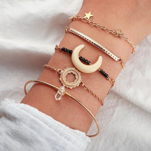 Moon, Star, Sun Bracelet Set