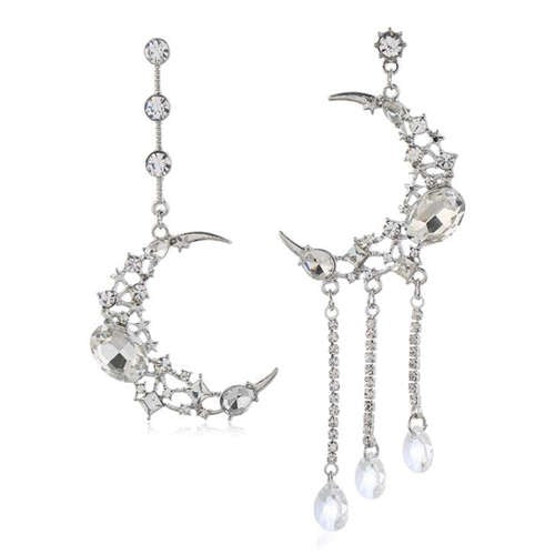 Crescent Asymmetrical Earrings