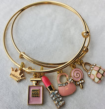 Load image into Gallery viewer, Beautiful Custom Charm Bracelets (Pink Purses)